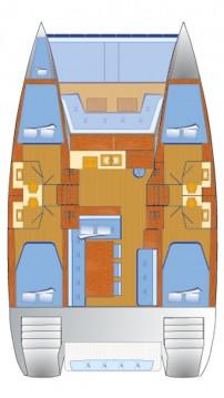 Rent a Catana Bali 4.1 - 4 + 1 cab. Rogoznica