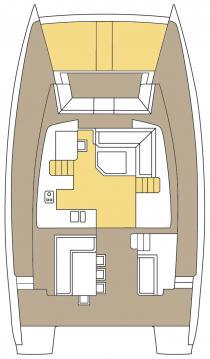 Rental Catamaran in Split - Catana Bali 4.5 - 4 + 2 cab.