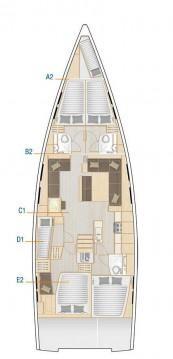 Boat rental Kaštela cheap Hanse 548
