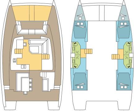 Boat rental Palma de Mallorca cheap Bali 4.5 - 4 + 2 cab.