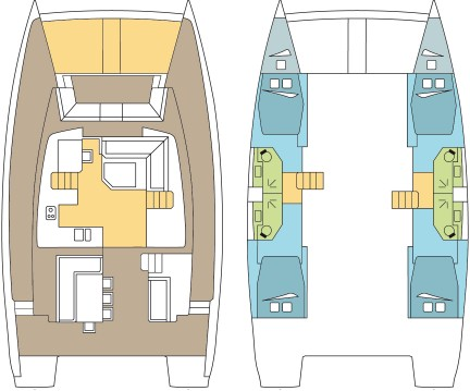 Catana Bali 4.5 - 4 + 2 cab. between personal and professional Bas du Fort