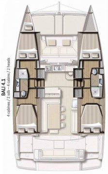 Rental yacht Jamestown - Catana Bali 4.1 - 4 + 2 cab. on SamBoat