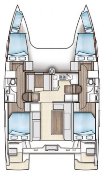 Rental yacht Jezera - Nautitech Nautitech 40 on SamBoat