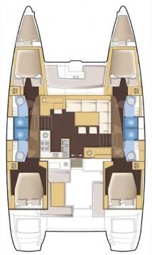 Boat rental Lávrio cheap Lagoon 450 F