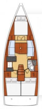 Rental Sailboat in Biograd na Moru - Bénéteau Oceanis 38.1