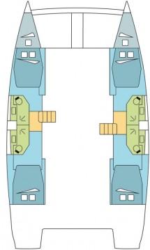 Rental Catamaran in Saint George's - Catana Bali 4.5 - 4 + 2 cab.