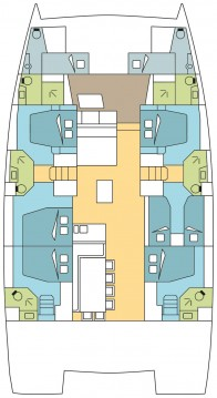 Rental yacht Saint George's - Catana Bali 5.4 - 5 + 2 cab on SamBoat