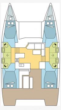Rental Catamaran in Propriano - Fountaine Pajot Astrea 42