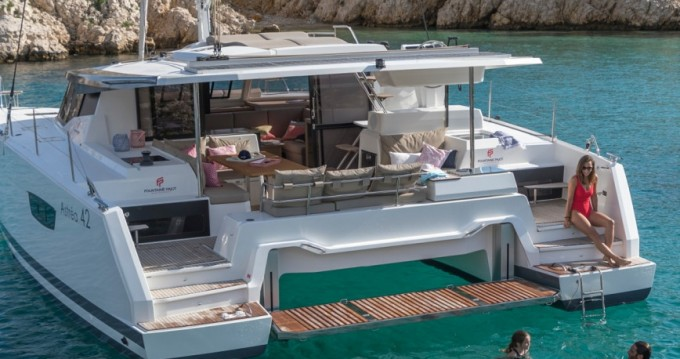 Fountaine Pajot Astrea 42 between personal and professional Scrub Island