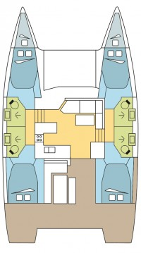 Boat rental Lefkada (Island) cheap Astrea 42