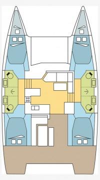 Rental yacht Saint-Mandrier-sur-Mer - Fountaine Pajot Astrea 42 on SamBoat