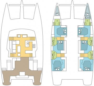 Boat rental Saint Thomas cheap Fountaine Pajot Ipanema 58 - 6 + 2 cab.