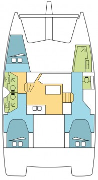 Rental yacht Gouvia - Fountaine Pajot Lucia 40 on SamBoat
