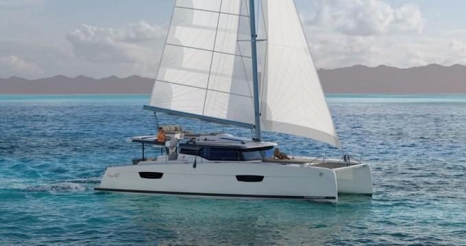 Rental Catamaran in Praslin Island - Fountaine Pajot Saona 47