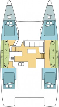 Rental Catamaran in Propriano - Fountaine Pajot Helia 44