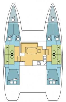 Rental yacht Seget Donji - Lagoon Lagoon 400 S2 on SamBoat