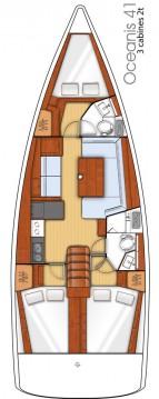 Boat rental Bénéteau Oceanis 41 in Seget Donji on Samboat