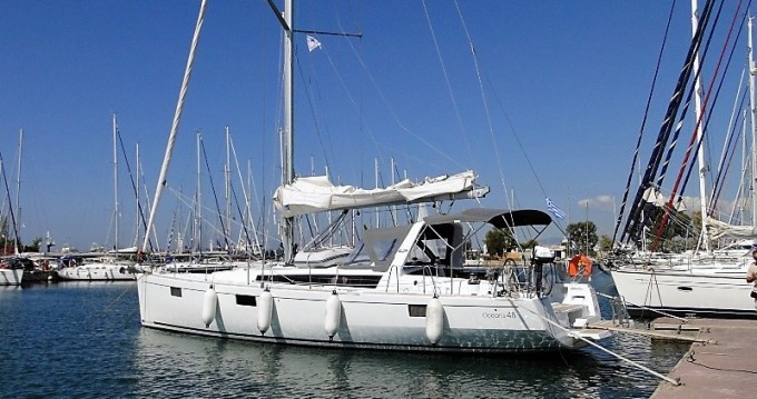 Boat rental Paros Island cheap Oceanis 48