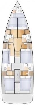 Rental Sailboat in Seget Donji - Jeanneau Sun Loft 47 - 6 + 1 cab.