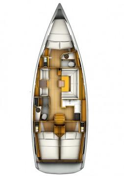 Boat rental Praslin Island cheap Sun Odyssey 409