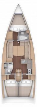 Boat rental Trogir cheap Dufour 390