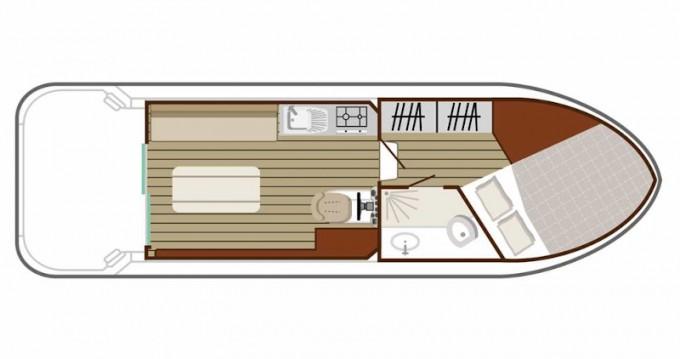 Boat rental Nevers cheap Sedan 800