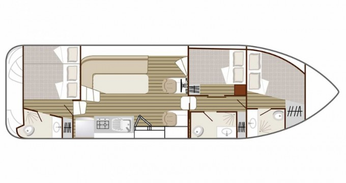 Boat rental Nevers cheap Confort 1100