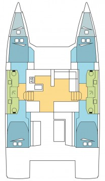 Boat rental Scrub Island cheap Nautitech 47 Power - 4 + 2 cab.
