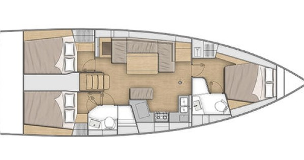 Rental yacht Seget Donji - Bénéteau Oceanis 40.1 on SamBoat