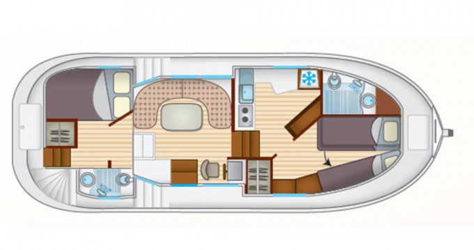 Canal boat for rent Agen at the best price