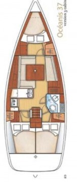 Boat rental Lávrio cheap Oceanis 37