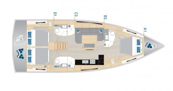 Boat rental Hanse Hanse 460 - 3 cab in Seget Donji on Samboat