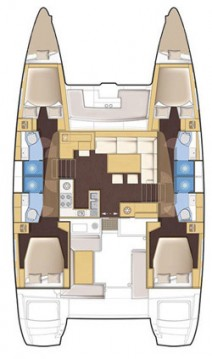 Boat rental Scrub Island cheap Lagoon 450