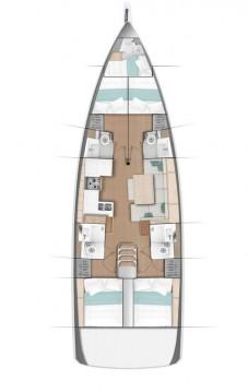 Jeanneau Sun Odyssey 490 between personal and professional Lefkada (Island)