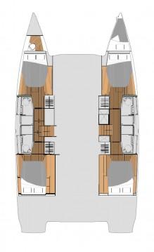 Rental Catamaran in Seget Donji - Fountaine Pajot Elba 45