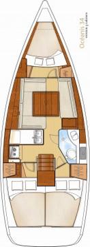 Boat rental Bénéteau Oceanis 34 in Sukošan on Samboat