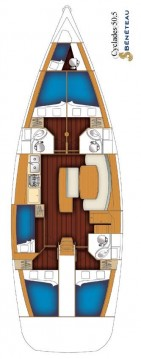 Boat rental Bénéteau Cyclades 50.5 in Rogač on Samboat