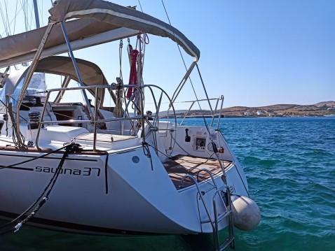 Boat rental Paros Island cheap Salona 37