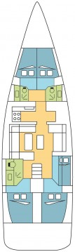 Dufour Dufour 520 Grand Large between personal and professional Ajaccio
