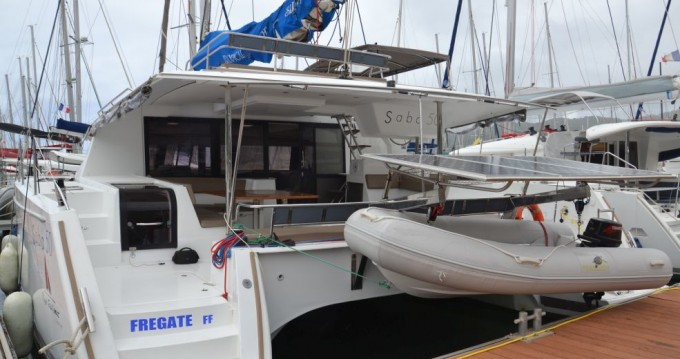 Fountaine Pajot Saba 50 between personal and professional Le Marin