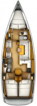 Jeanneau Sun Odyssey 419 between personal and professional Komolac