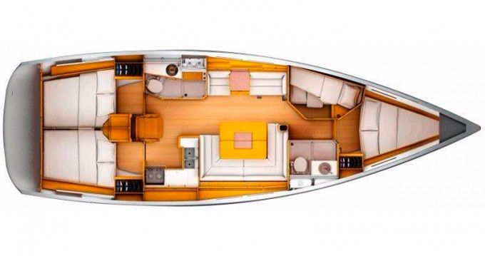 Jeanneau Sun Odyssey 439 between personal and professional Gouvia
