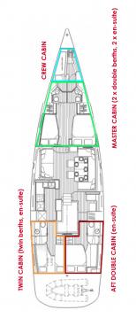 Rental yacht Kaštela - Jeanneau Jeanneau 64 OW - 3 + 1 cab. on SamBoat