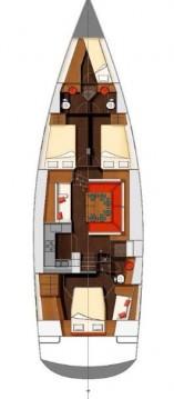 Rental Sailboat in Kaštela - Wauquiez Wauquiez Pilot Saloon 55 OW