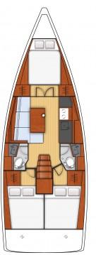 Boat rental Fethiye cheap Oceanis 38.1