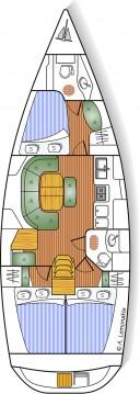Rental yacht Syros (Island) - Bénéteau Oceanis 393 Clipper on SamBoat